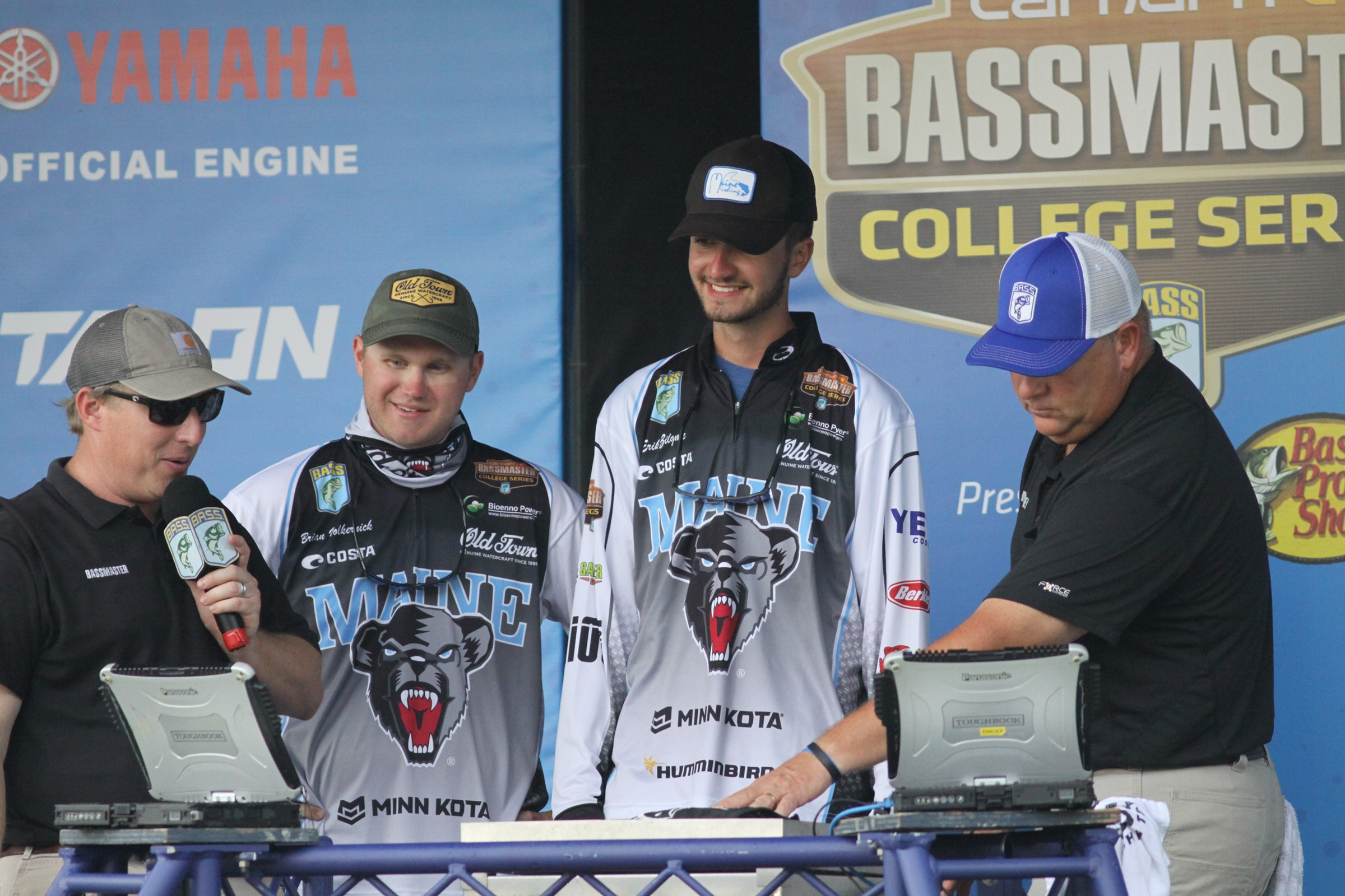 Brian Volkernick and Erik Ziiglme at the Bassmaster College Championship